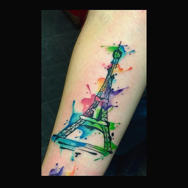 Watercolor Eiffel Tower Design Inspired By The Best Watercolor