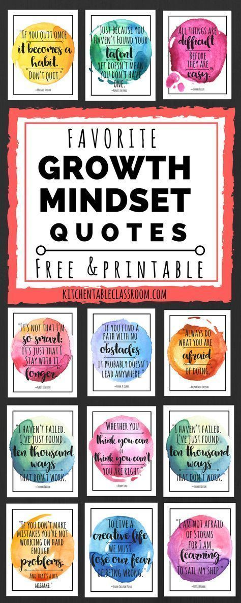 Growth Mindset Quotes for Kids & Parents is part of Growth mindset quotes, Mindset quotes, Classroom quotes, Growth mindset, School counseling, Education quotes - These free watercolor growth mindset quotes for kids are a great reminder to keep trying! Growth quotes perfect for encouraging growth mindset for kids!