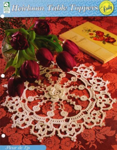 Fleur De Lis Doily Crochet Pattern Instruction Page Ebay Crochet