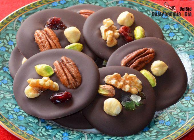 Receta Fácil De Mendiants De Chocolate Para Navidad