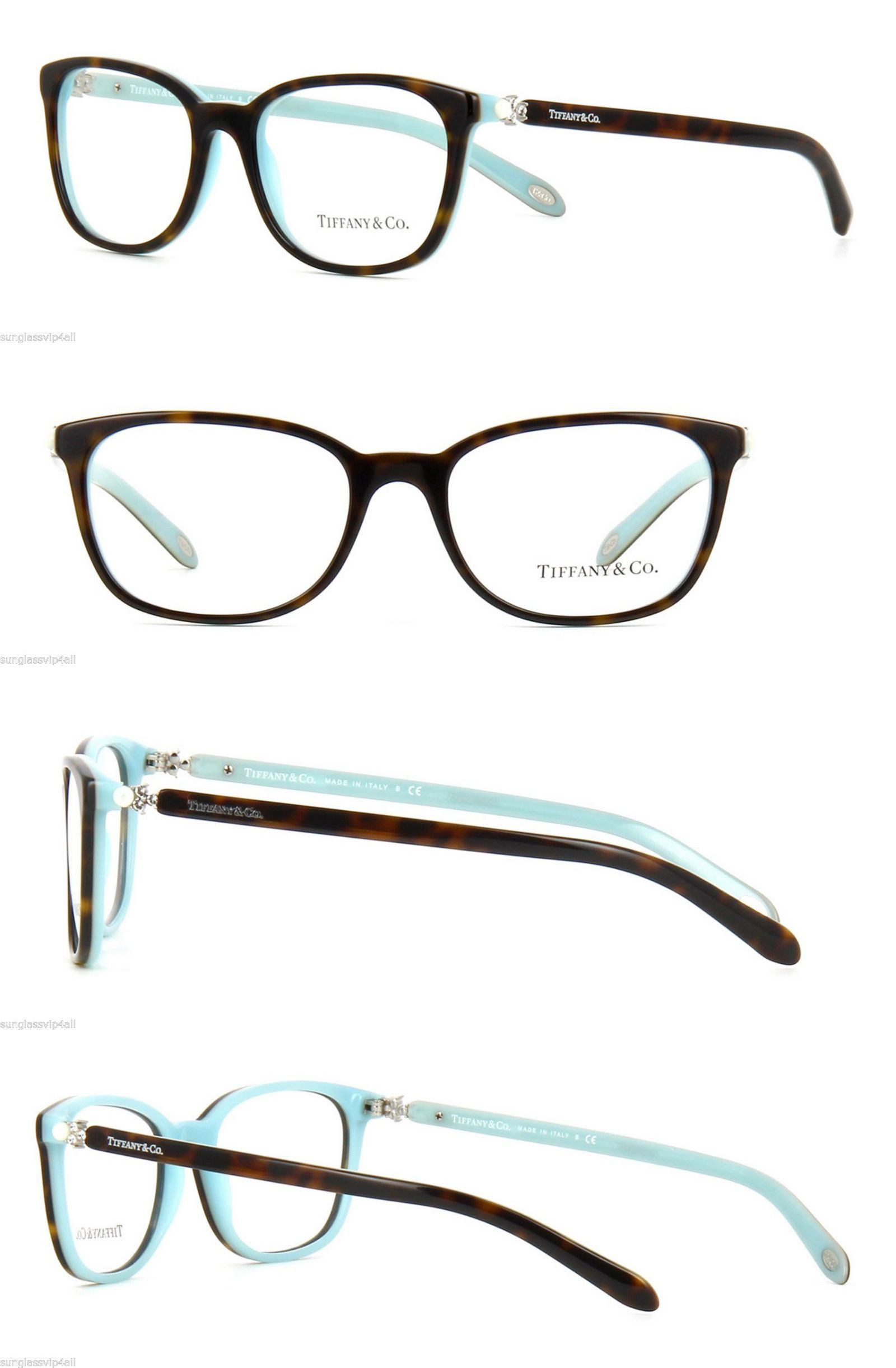 Eyeglass Frames: *New Authentic Tiffany And Co. Tf2109hb 8134 Havana ...