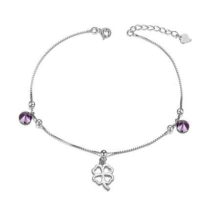 Sweetiee 925 Sterling Silver Anklet with Paw Silver 220mm for Woman ZiSBJ65OyX