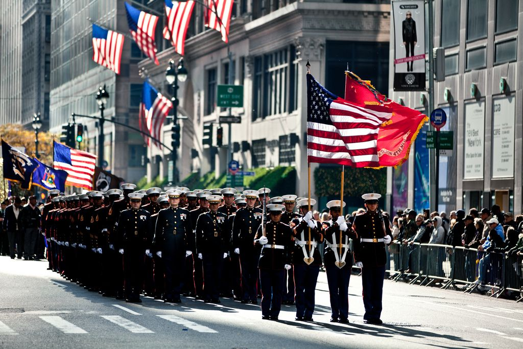 Marines march in 2011 NYC Veterans Day Parade   by NYCMarines