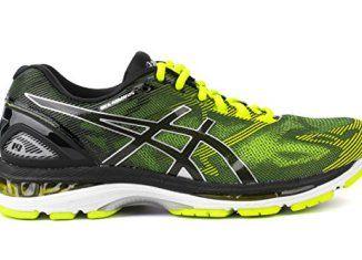 separation shoes c7a11 e5c68 Asics Men's Gel-Nimbus 19 Running Shoes Black Safety Yellow ...