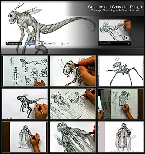 Creature and Character Design Concept Sketching with Sang Jun Lee