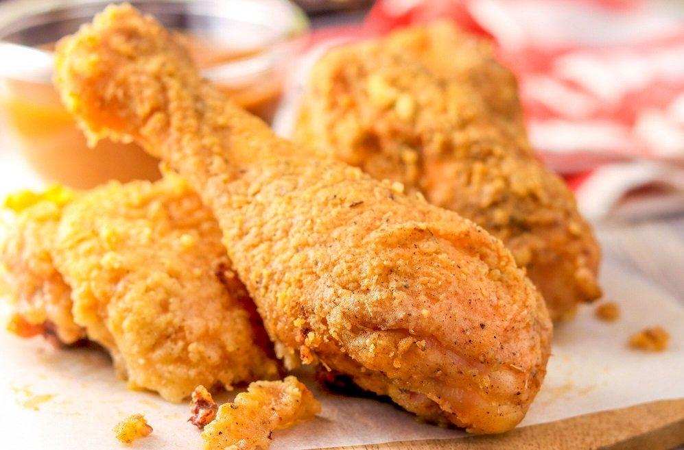 طريقة عمل بروستد الدجاج في المنزل طريقة Recipe Drumstick Recipes Chicken Drumstick Recipes Fries In The Oven