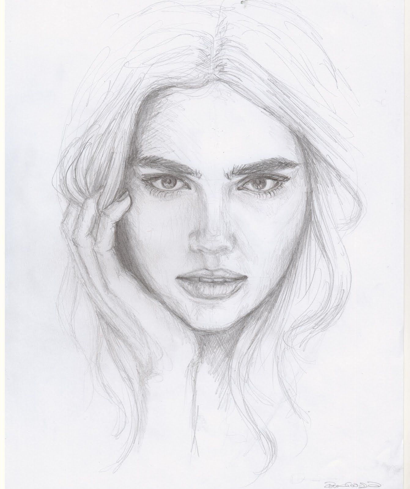 week 6 | Pencil sketches of girls, Face pencil drawing ...