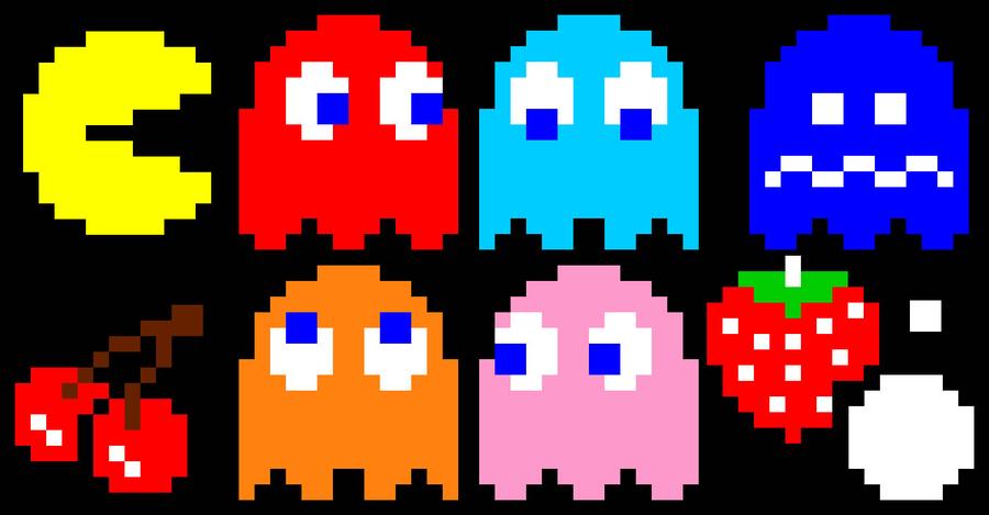 Pacman Sprites By Possumtally On Deviantart Pacman Retro Games Pixel Pixel Art