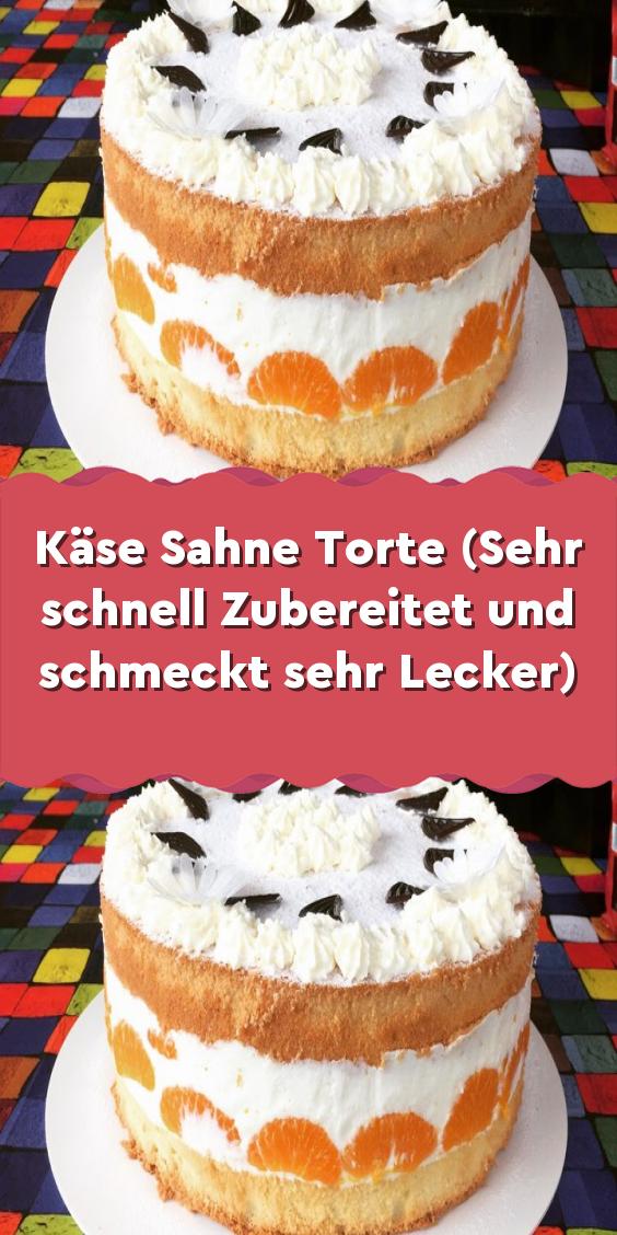 Kase Sahne Torte Sehr Schnell Zubereitet Und Schmeckt Sehr Mit Bildern Lecker Kuchen Und Torten