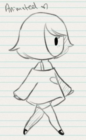 i am open for commissions walk cycle rough for paperhearts. Might keep the style rough to go with the sketchy art style. crit is welcome, I'm not really good at animating OTL