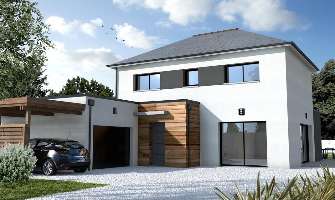 Cette maison cubique contemporaine construire à Nantes Zola répond