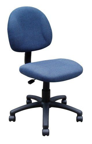 Incroyable Boss Fabric Deluxe Posture Armless Task Chair, Blue By BOSS. $67.99. Nylon,  Swivel 5 Star Base With Double Wheel Casters; Padded Seat Covered In  Durable ...