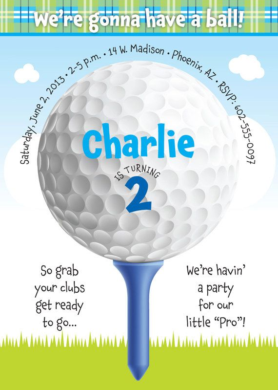 Golf birthday party invitation for kids birthday party ideas for golf birthday party invitation for kids by tbonesquid on etsy 1500 filmwisefo