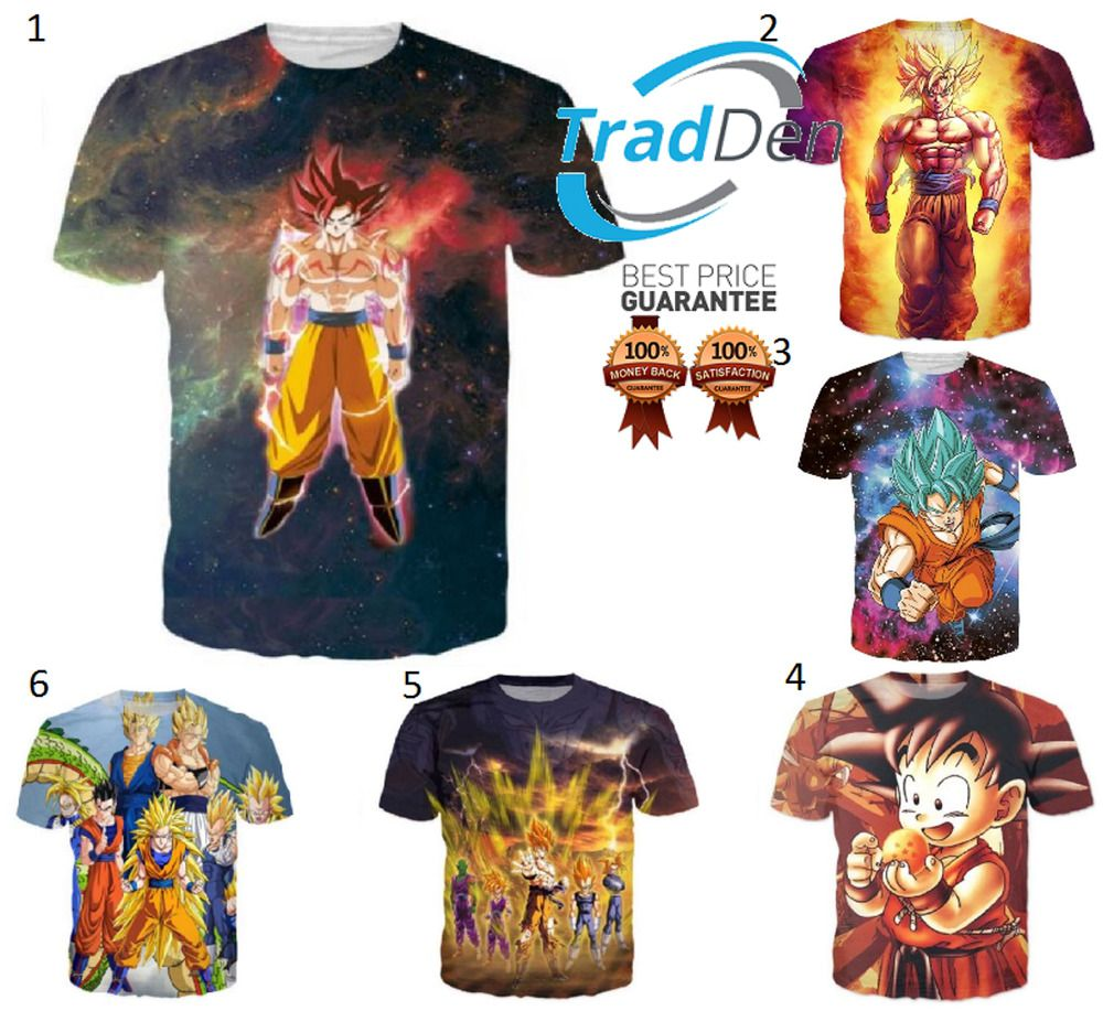 a63af94a New T-Shirt 3D Dragon Ball Z 4 Cartoon Print Anime Super Saiyan DBZ Manga  Comics #fashion #clothing #shoes #accessories #mensclothing #shirts (ebay  link)