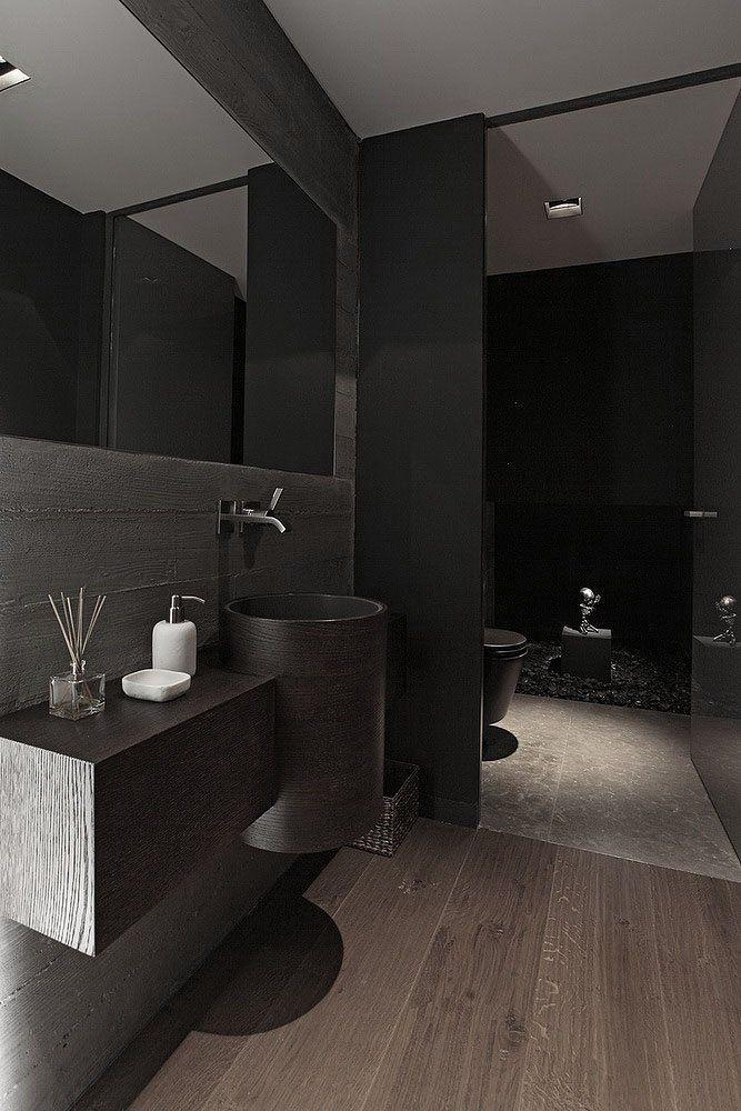 Contemporary Dark Bathroom Modern Bathroom Plan Bathroom Design Black Bathroom Interior