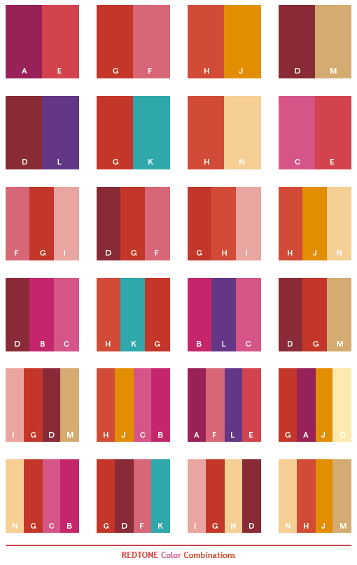 Red color palettes on pinterest yellow color palettes - Which color matches with pink ...