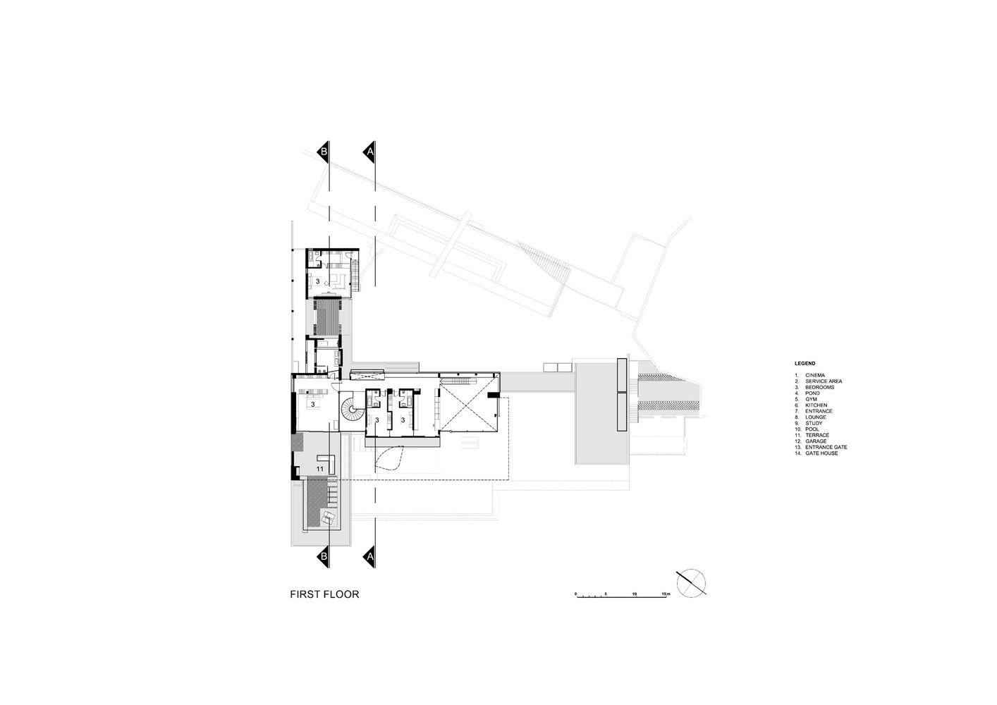Gallery Of Dakar Sow House Saota 21 How To Plan Luxury House Plans Floor Plans