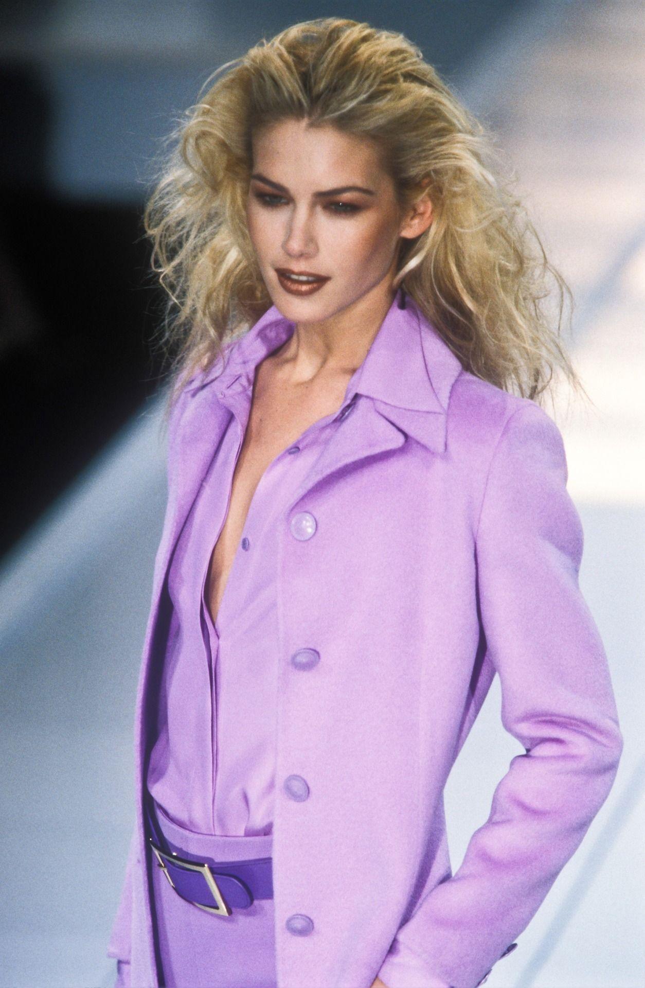 Valeria Mazza Gianni Versace - Autumn Winter - 1996 1997 - Milan ...