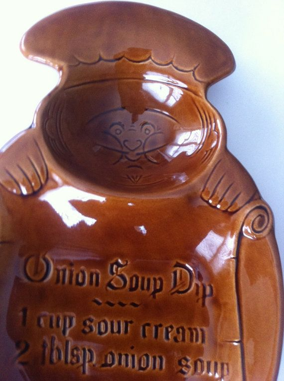 Fat and Happy Chef Chip & Onion Dip Tray  Calif USA by Pesserae, $12.00
