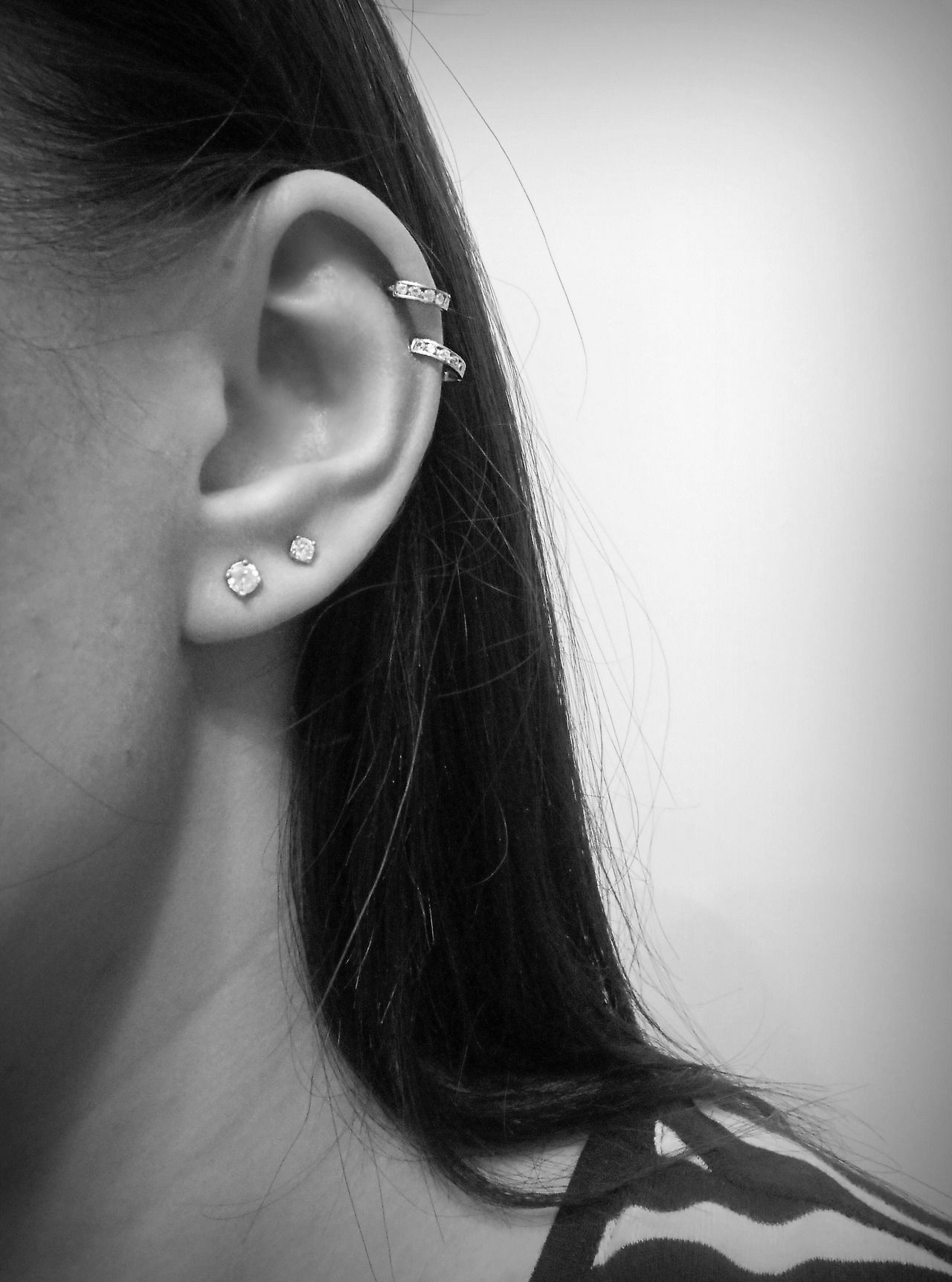 double cartilage piercing tumblr earrings pinterest