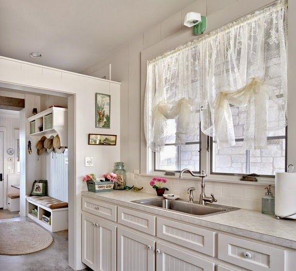 cortinas de cocina baratas estilo romantico