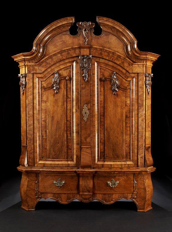 Grosser Zweituriger Barock Schrank Baroque Furniture Antique Furniture Wood Carving Furniture