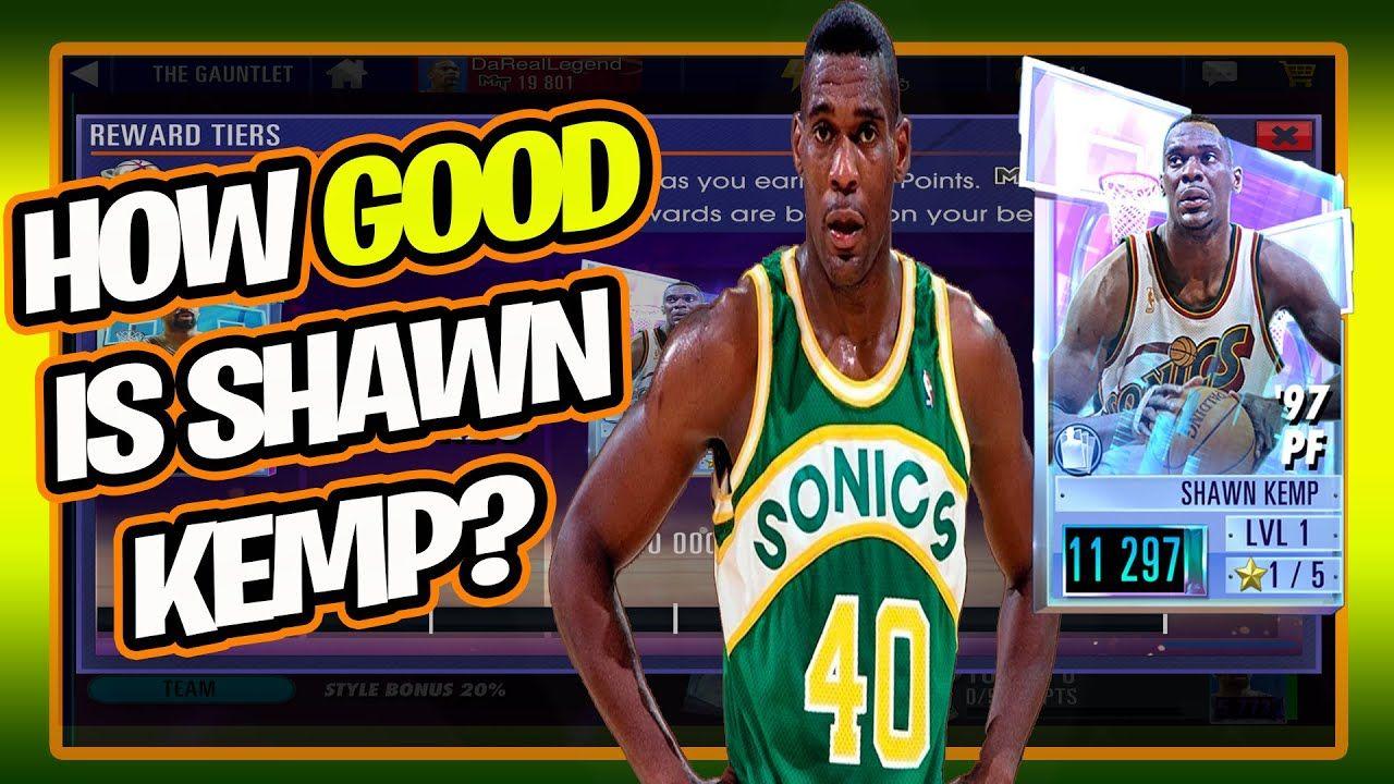 GLASS MEN DIAMOND SHAWN KEMP   NBA 2K MOBILE BEST PLAYERS