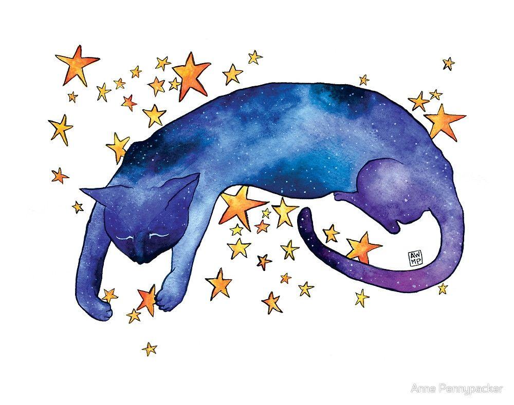 Celestial Cat Nap By Anne Pennypacker Cat Art Cat Nap Art