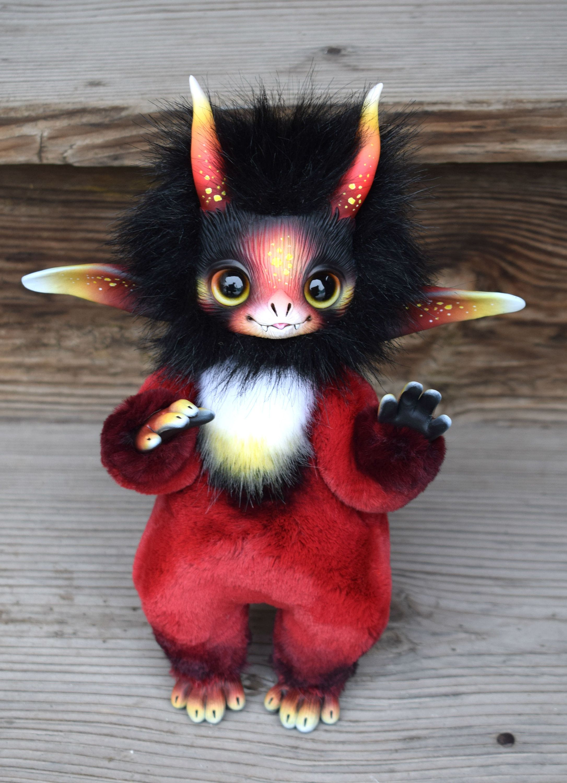 art doll, Fantasy Creature, poseable toy, imp, アートドール в ...