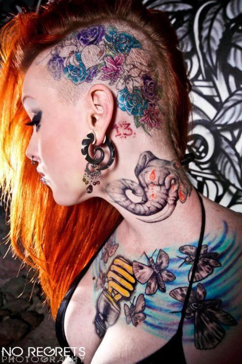 Imagini pentru head tattoo girl