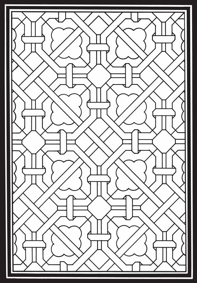 coloring pages geometric staind glass - photo#15
