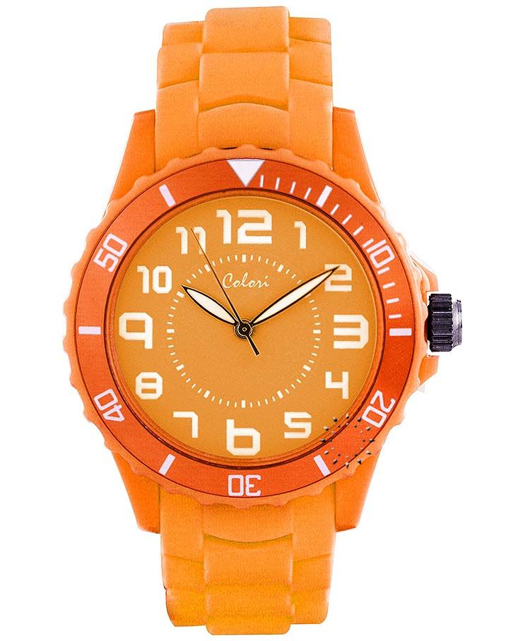 COLORI Summer Delight Orange Silicone Strap http://www.oroloi.gr/product_info.php?products_id=39184
