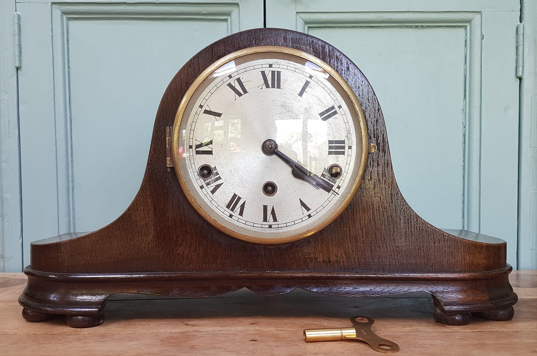 Vintage Westminster Chimes Mantel Clock Antique Napoleon Hat