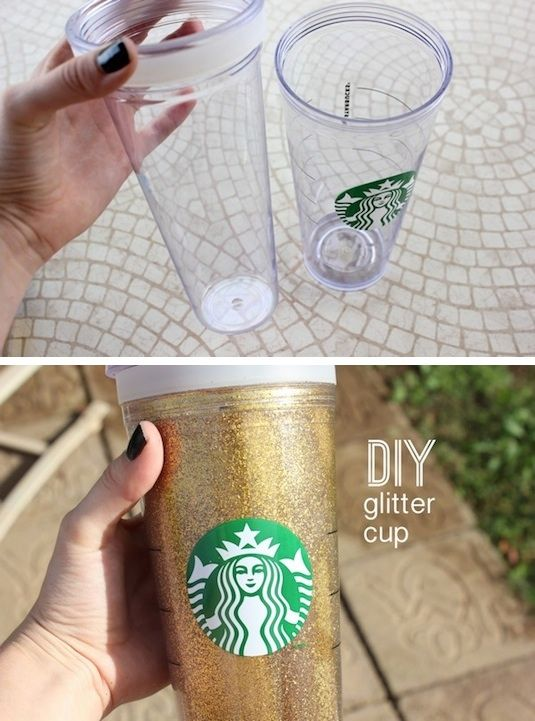35 easy diy gift ideas people actually want for christmas more 35 easy diy gift ideas that everyone will love diy glitter cup so negle Images