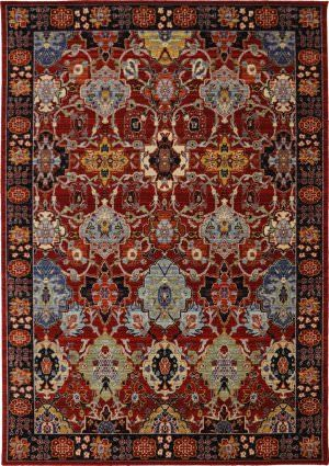 Superb Karastan Bravado Mahir Red Area Rug