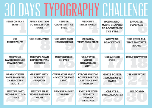 30 Days Typography Challenge Learning Graphic Design Graphic Design Lessons Teaching Graphic Design