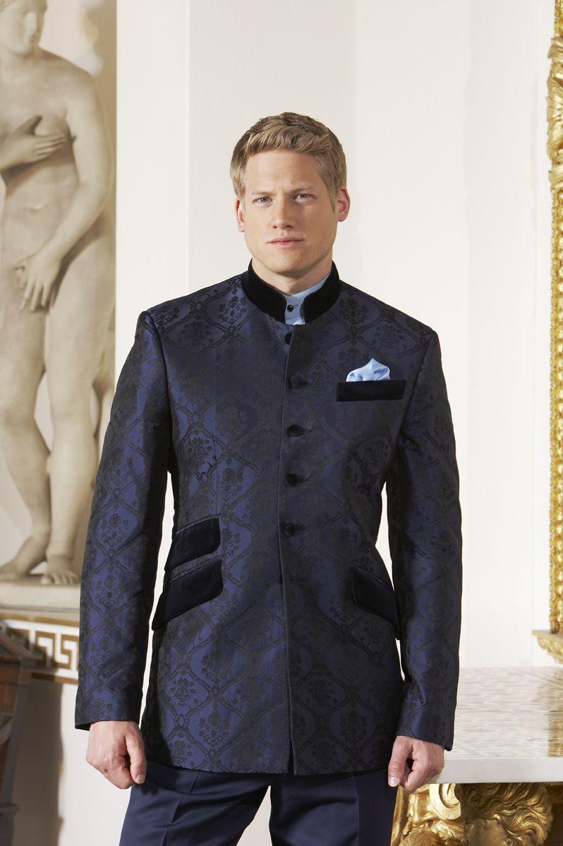 Buy Designer GETABHI Blue Cotton Modi Jacket For Men Online at ...