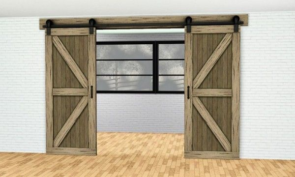 Gelina Downloads Double Sliding Barn Door Arch By Gelinagelina Sims 3 Downloads Cc Caboodle Double Sliding Barn Doors Interior Barn Doors Sims House