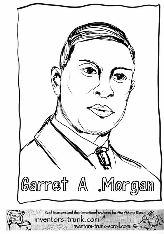 Garret Morgan Coloring Pages Inventor Of The Traffic Light Coloring Black History Month Black History Month Projects Black History
