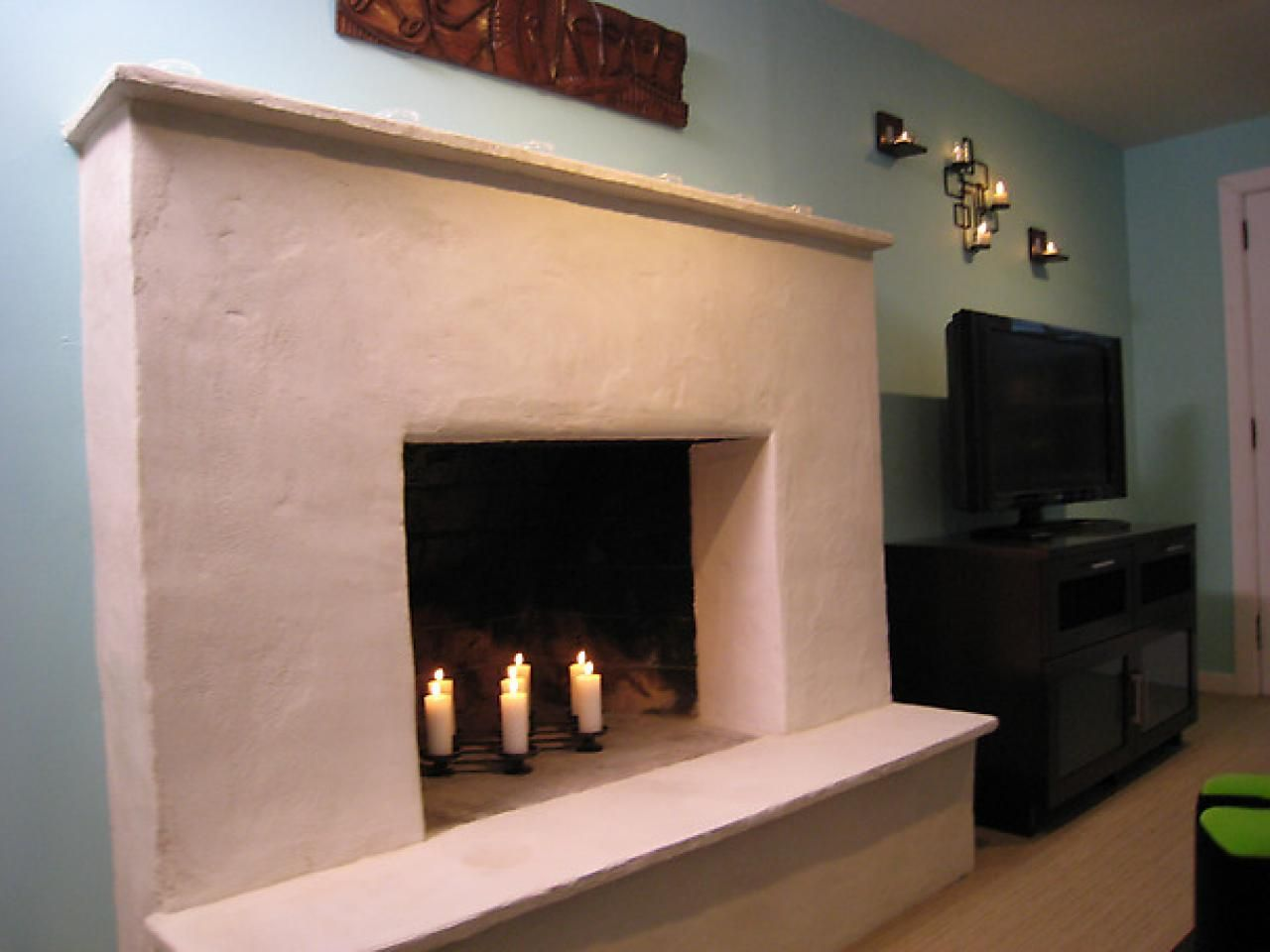 Weekend projects resurface a fireplace with stucco hgtv weekend projects resurface a fireplace with stucco solutioingenieria Choice Image