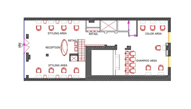 Salon Floor Plan 904 Sq Ft Design My Salon Pinterest
