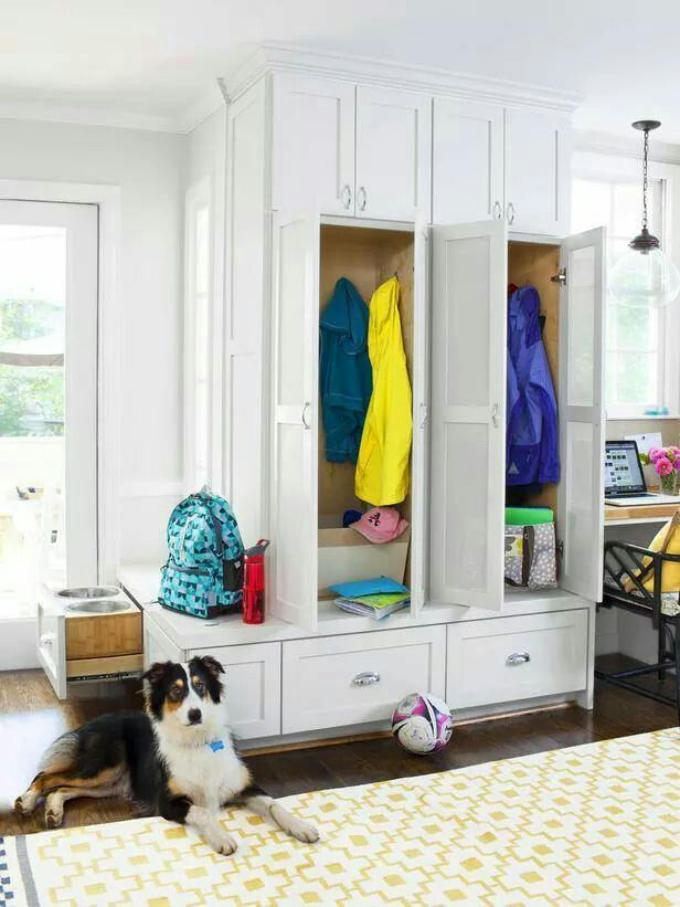 Mudroom in kitchen Entry hall  mudroom Pinterest Mudroom