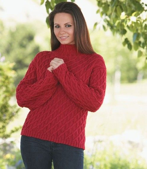 4c3dbc6a5a4b0e Louet North America--Melissa Leapman--Ribs on Diagonal Pullover Weaving  Patterns