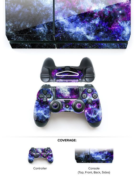 PS4 Controller Skin PS4 Skin PS4 Decal PS4 Console Playstation 4 Skin Playstation 4 Decal Gaming Gamer Space Decal # New Stellar