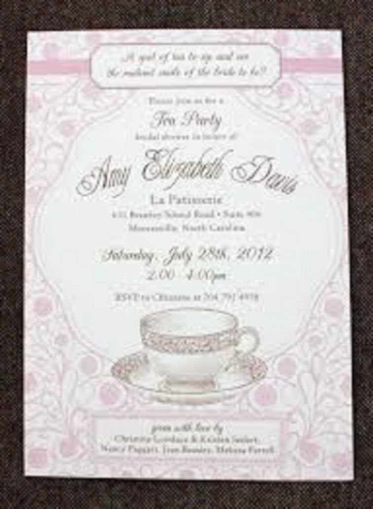formal tea party invitation
