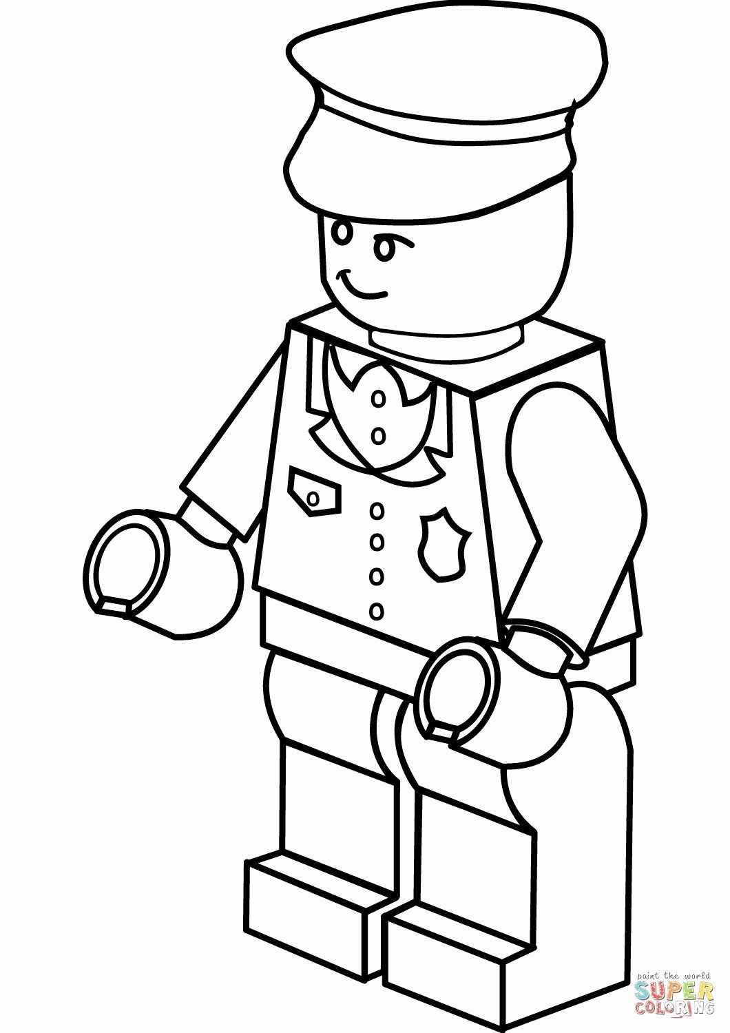 Police Officer Coloring Sheets Fresh Coloriage Lego Police 13 R