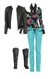 WetSeal.com Runway Outfit:  Winter Floral by CassiOsborne.