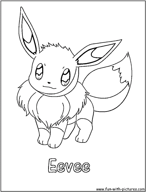 Pokemon Eeve Coloring Pages Kids Pokemon Coloring Pages Cartoon Coloring Pages Pikachu Coloring Page