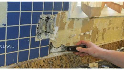 Tile Removal 101 Remove The Tile Backsplash Without Damaging The Drywall Tile Removal Marble Countertops Laminate Countertops