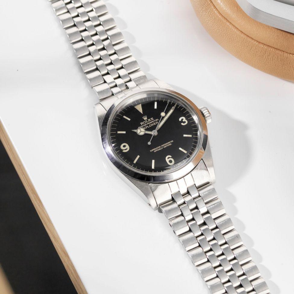 8e48c63f74 Rolex 1016 Explorer Gilt Dial 1966 ロレックスエクスプローラー, オメガの腕時計, ブレスレットウォッチ,